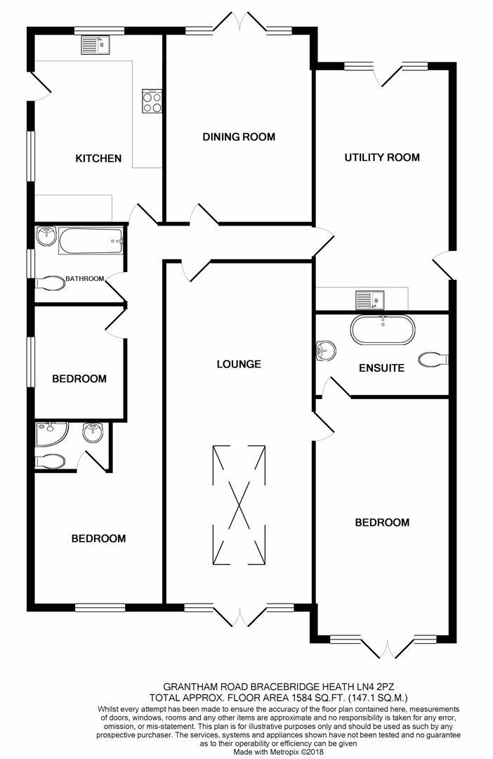3 Bedrooms Detached bungalow for sale in Grantham Road, Bracebridge Heath, Lincoln LN4