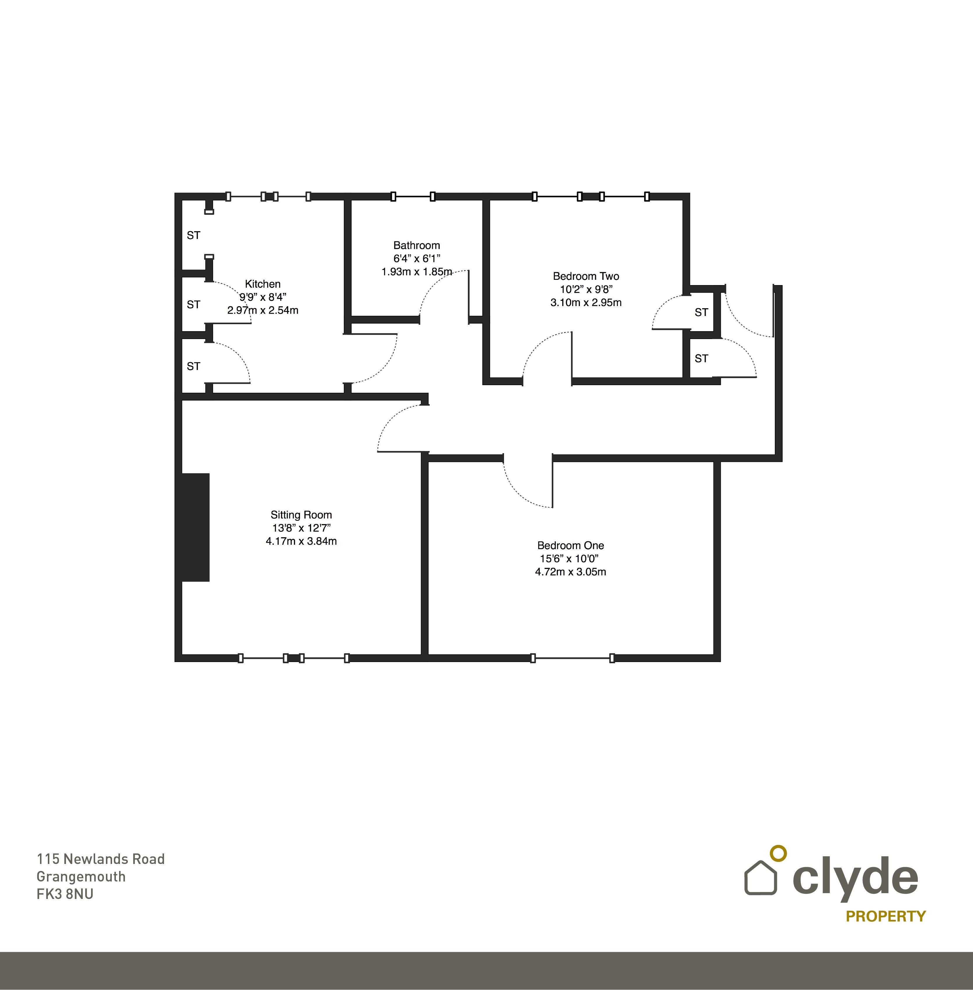 Newlands road grangemouth fk3 2 bedroom flat for sale for Cuisine kitchen polmont