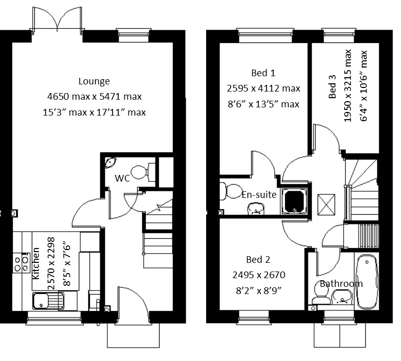 u00a3199 950  3 bedroom semi