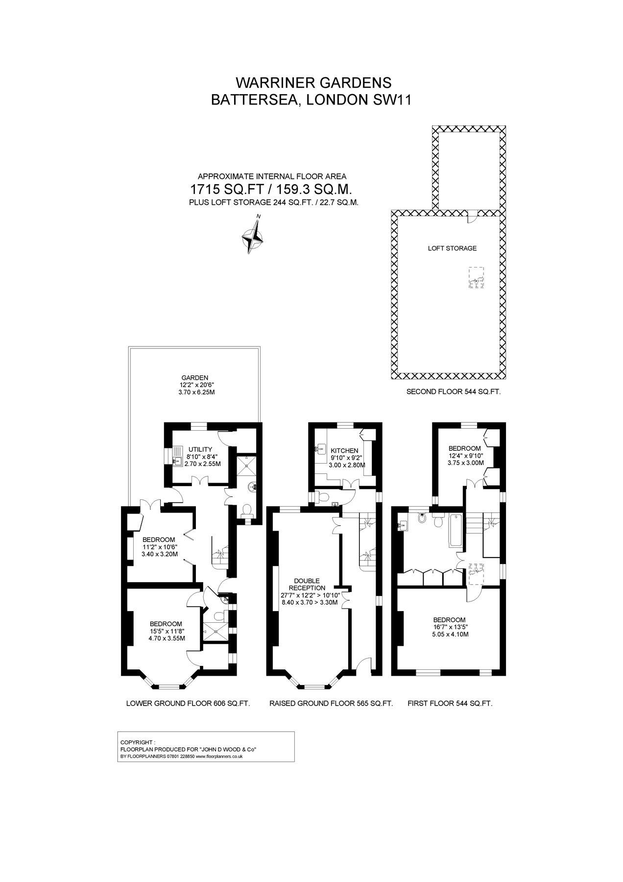 Warriner Gardens Battersea London Sw11 4 Bedroom Semi Detached
