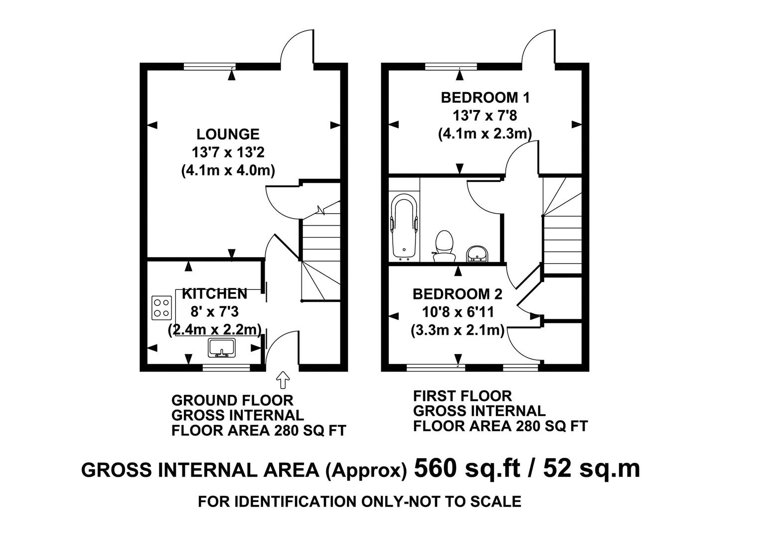 Avenue road winslow buckingham mk18 2 bedroom terraced for Buckingham choice floor plans