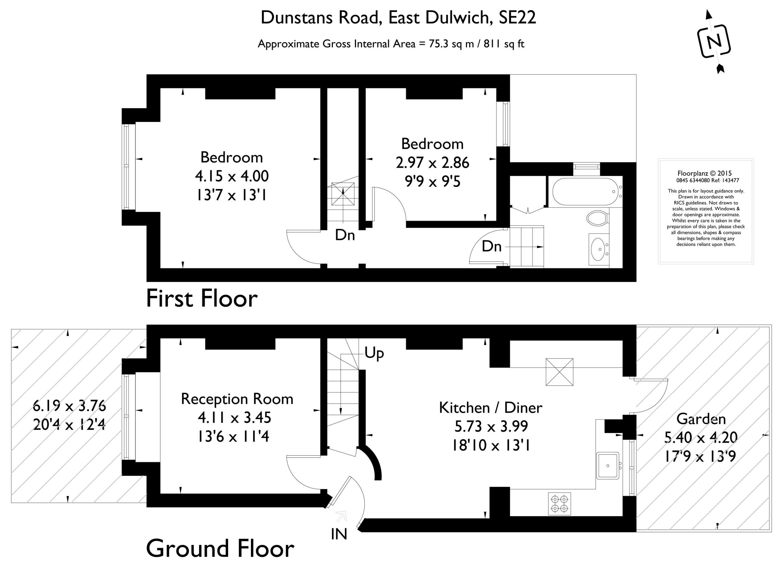 Dunstans road east dulwich london se22 2 bedroom for 1 9 terrace road dulwich hill