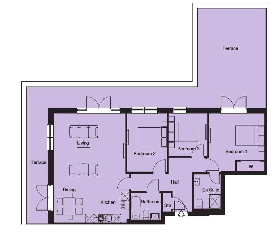 3 bed flat for sale in the fitzroy collection old for 16 brookers lane floor plans