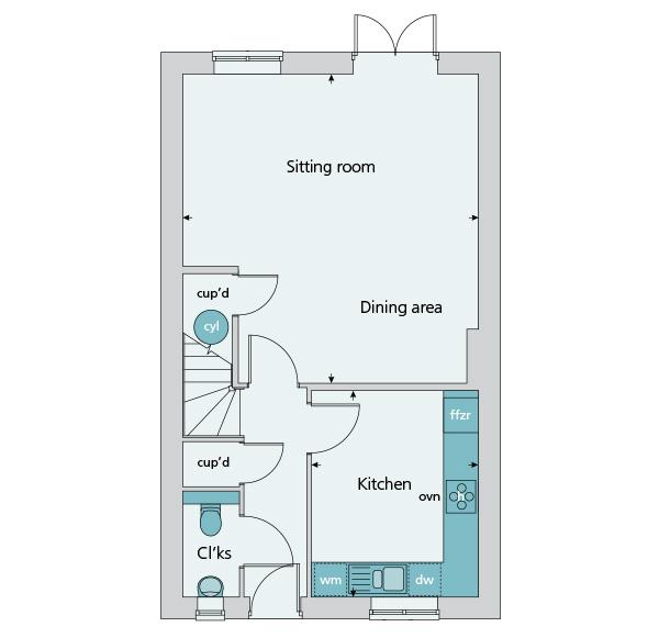 The salisbury at blunsdon swindon sn26 4 bedroom semi for Trademark quality homes floor plans