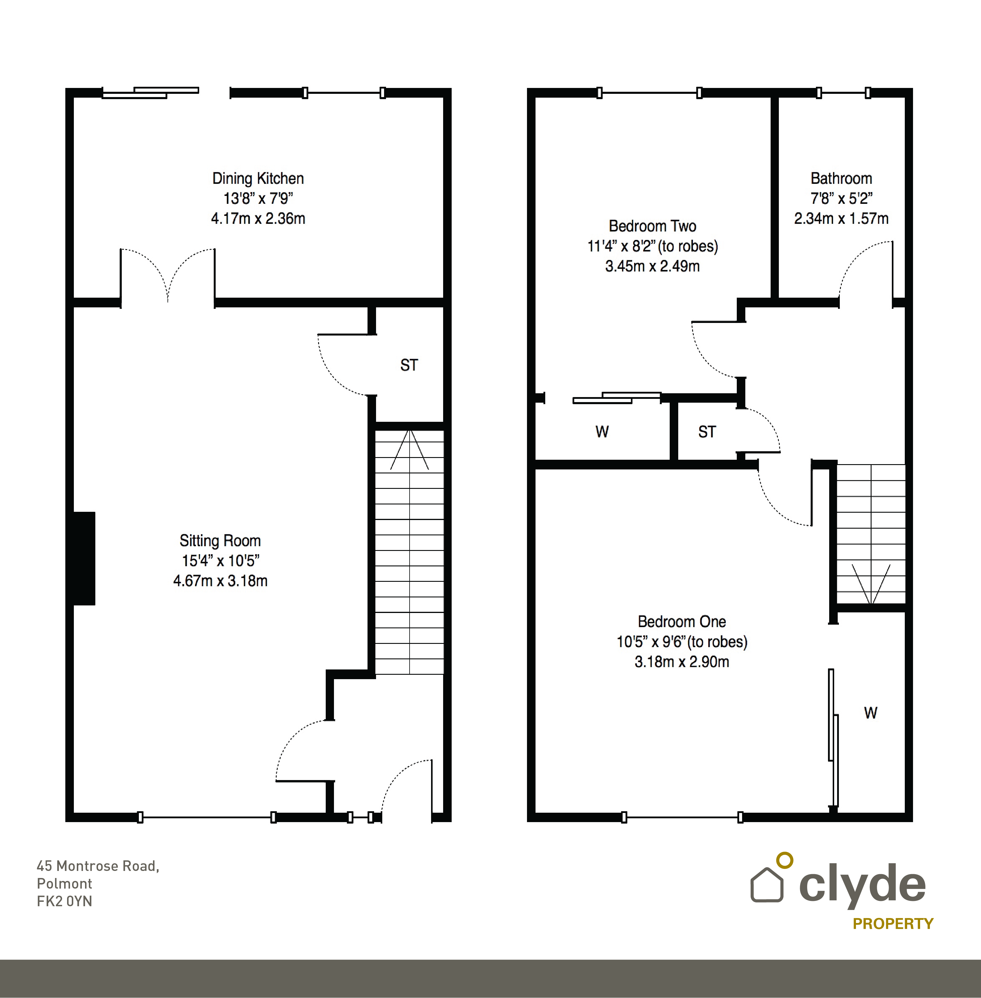 Montrose road polmont falkirk fk2 2 bedroom semi for Cuisine kitchen polmont