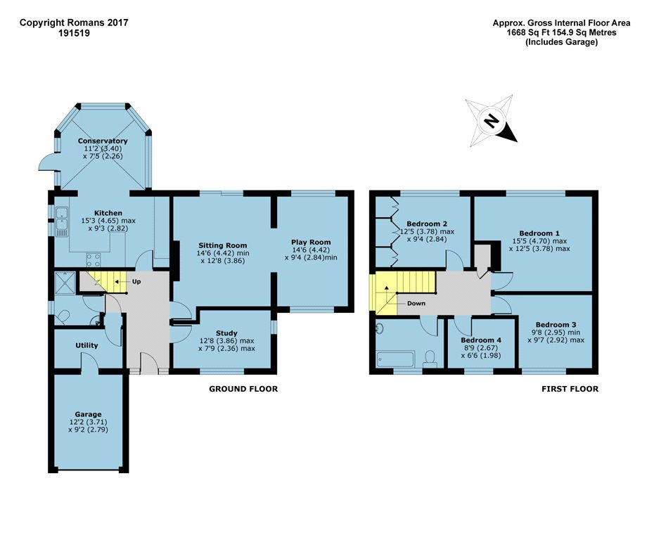Strathmore drive charvil reading rg10 4 bedroom for Reading a floor plan