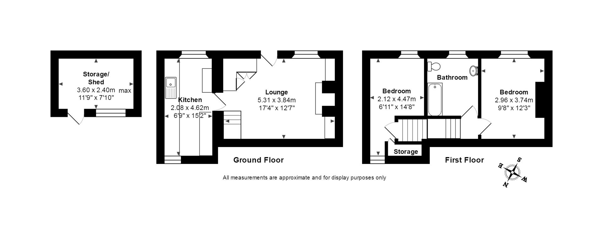 Clifden road st austell pl25 2 bedroom cottage for sale for 110 charles street east floor plan