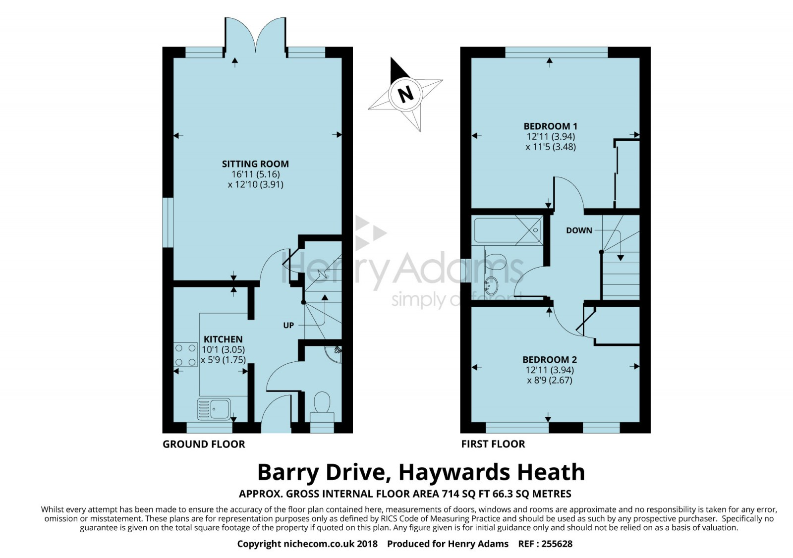 2 bed end terrace house for sale in Barry Drive, Haywards Heath RH16 ...