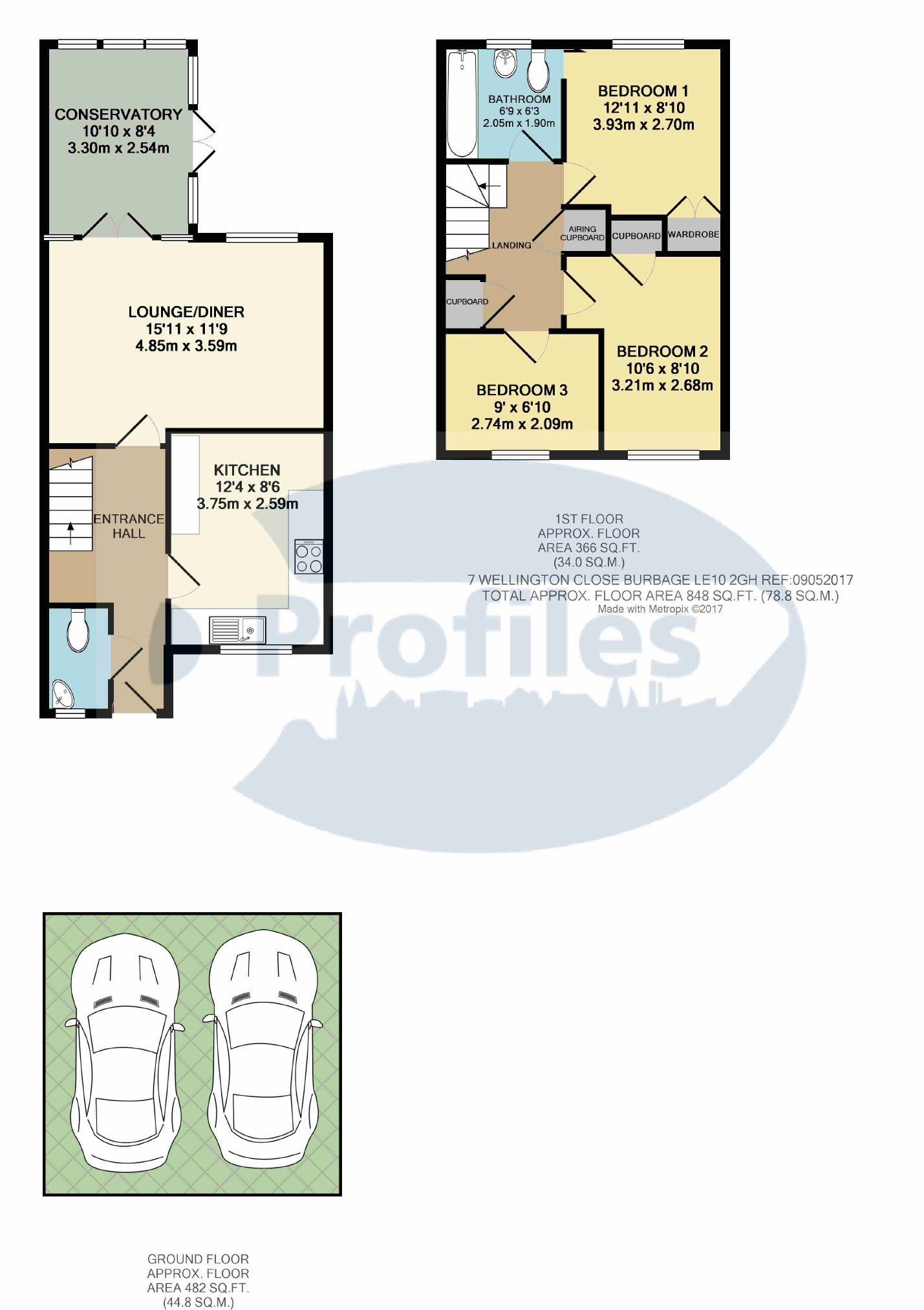 3 bed town house for sale in wellington close burbage hinckley