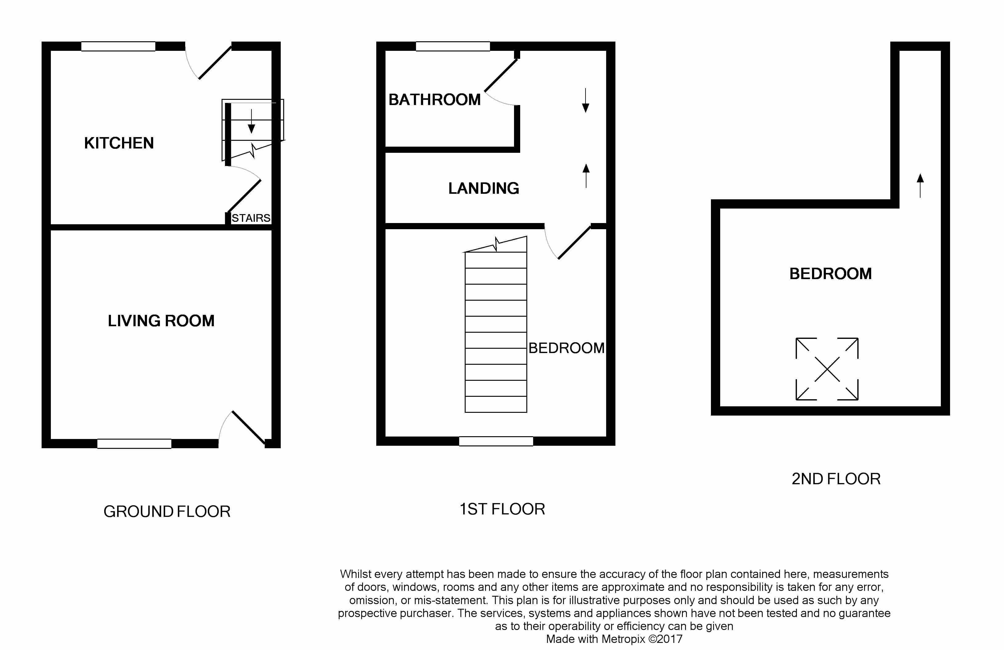 2 bed terraced house for sale in ridge hill lane for 16 brookers lane floor plans