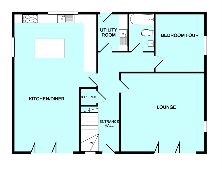 4 Bed Detached House For Sale In Rocky Park Road