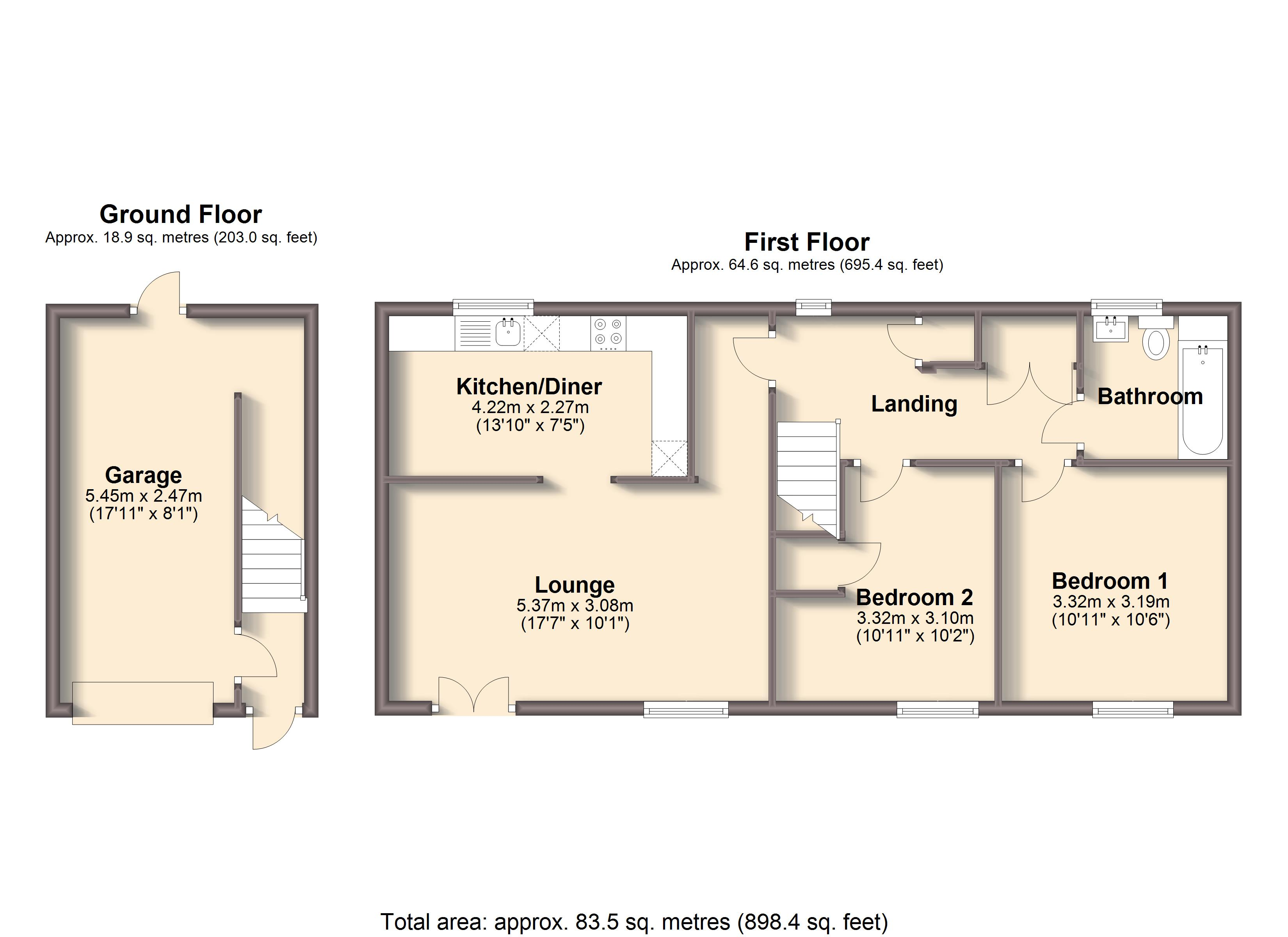 2 Bedrooms Flat to rent in William Brown Square, Chesterfield S40