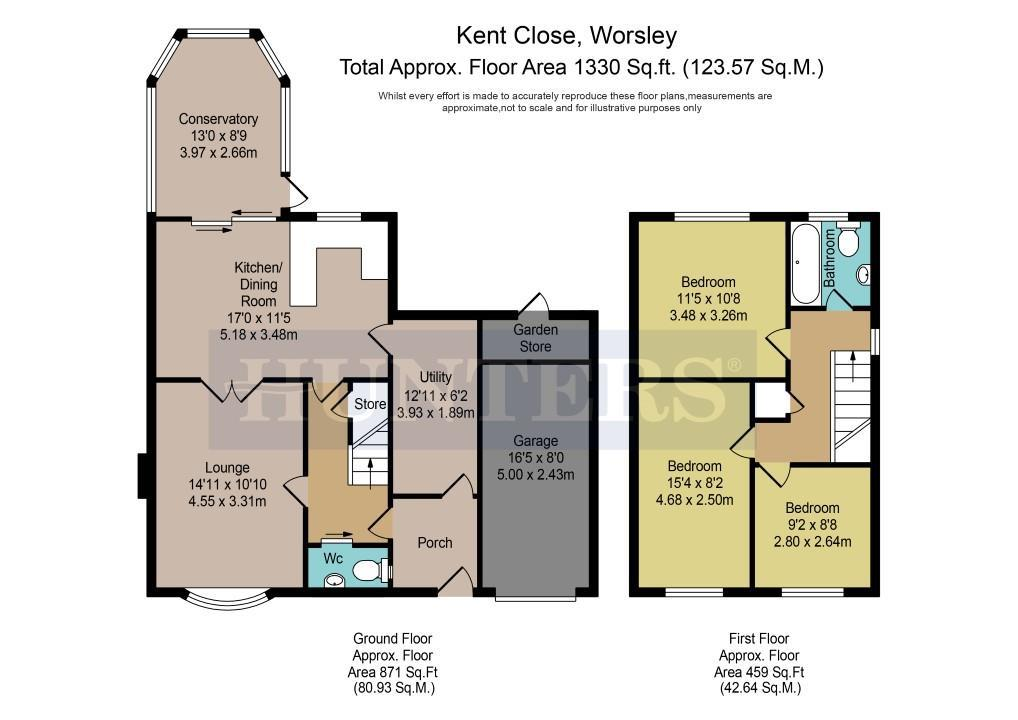 3 Bed Detached House For Sale In Kent Close Worsley