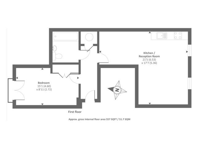 1 bed flat for sale in coach house mews bicester ox26 for 15 bruyeres mews floor plans