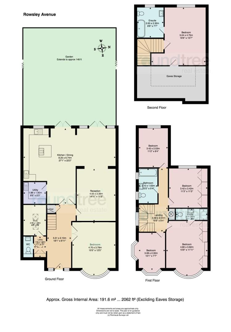 6 Bedrooms Link-detached house to rent in Rowsley Avenue NW4, Hendon