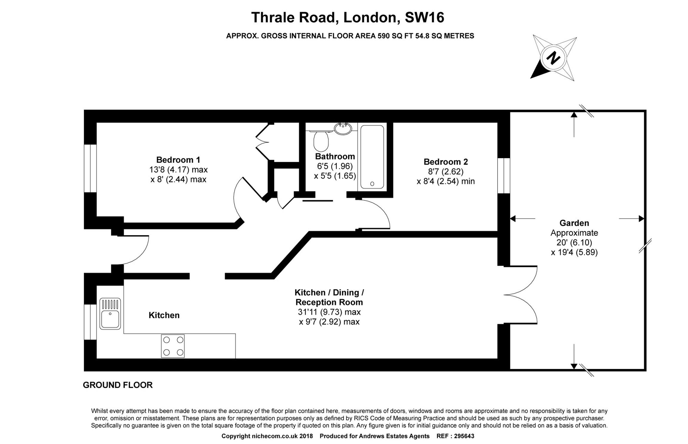 2 Bedrooms Semi-detached bungalow for sale in Thrale Road, London SW16