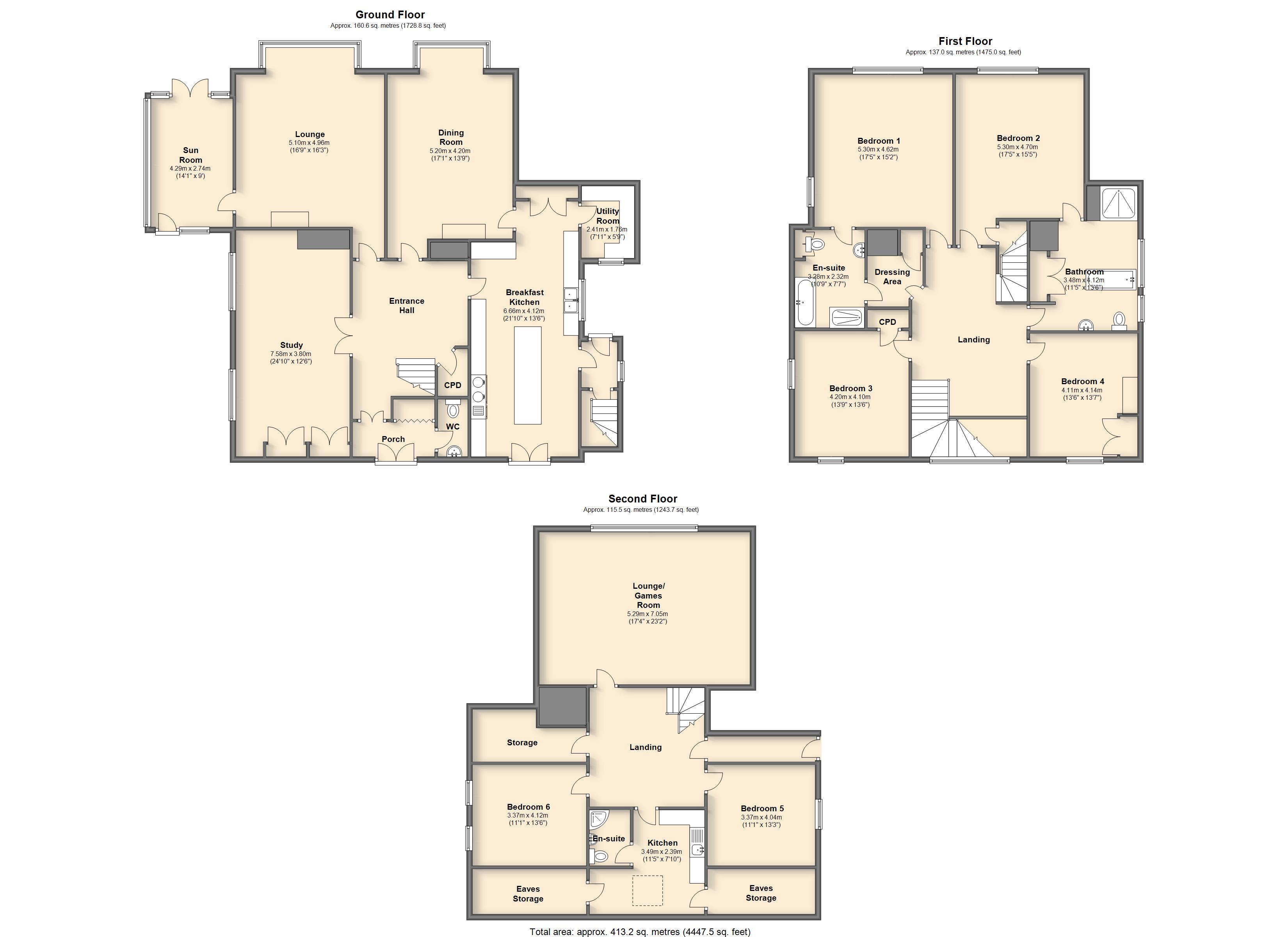 Whiteley wood road sheffield s11 7 bedroom detached for Sheffield floor plan