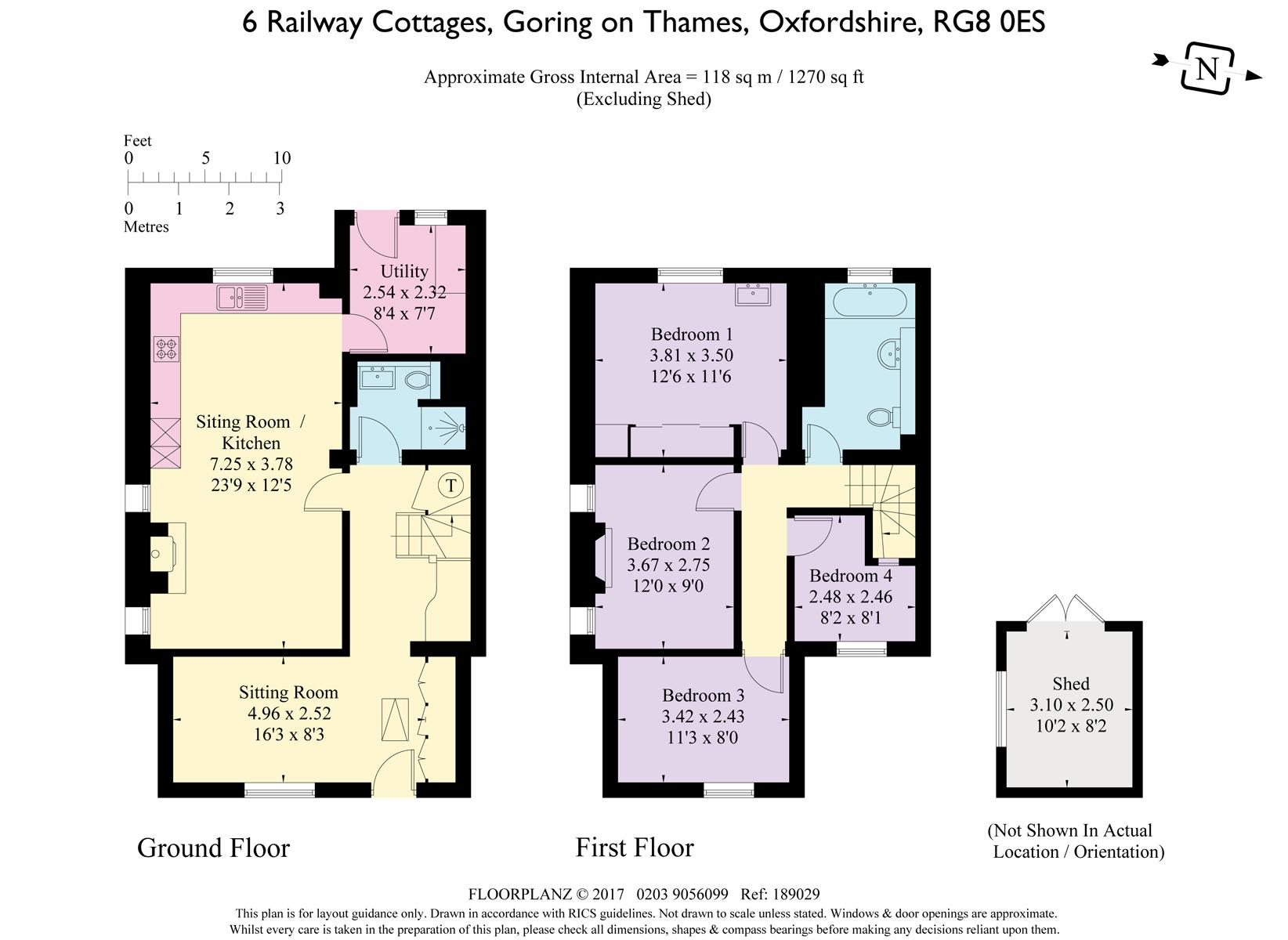 6 Railway Cottages Goring On Thames Rg8 4 Bedroom End
