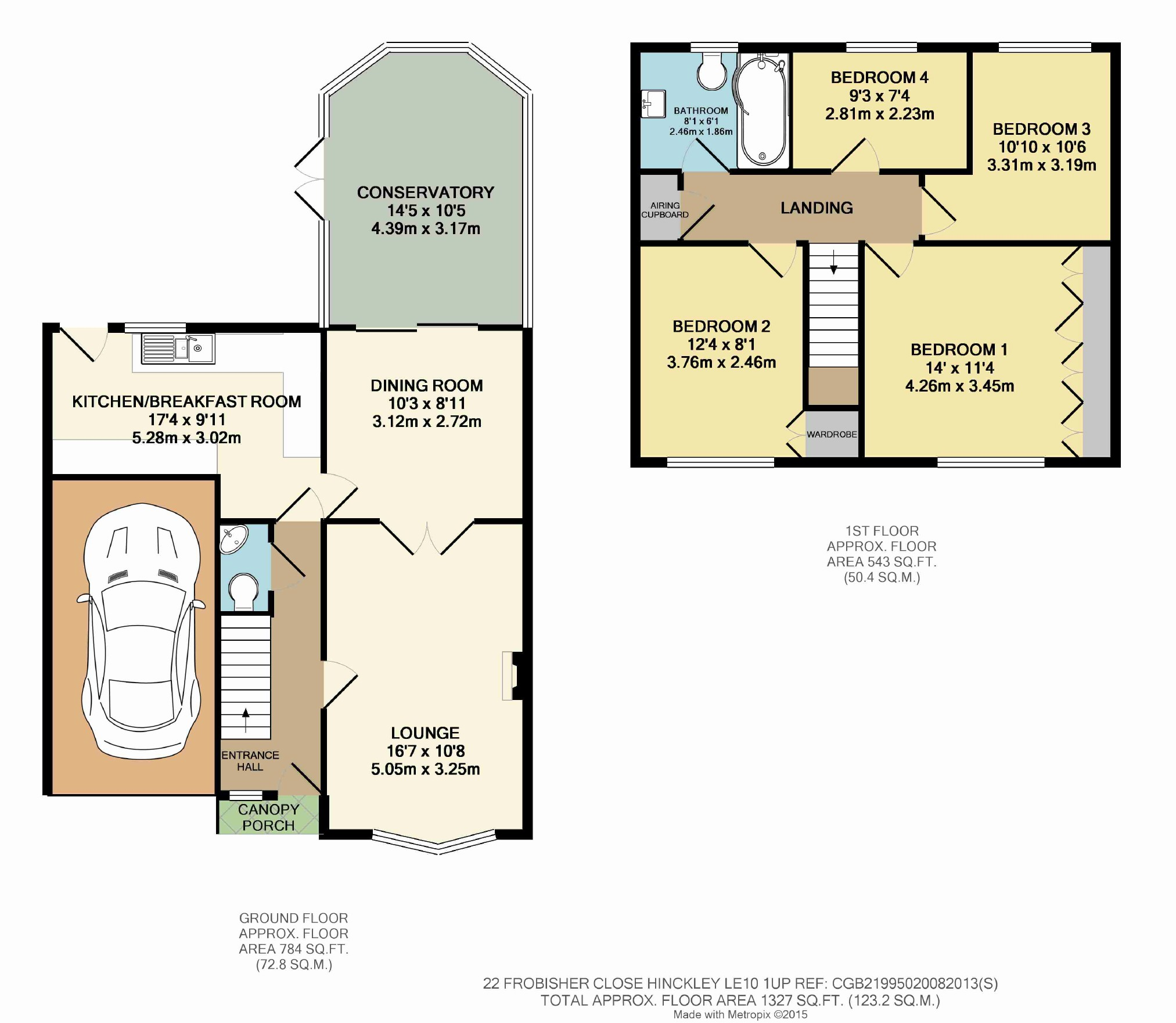 4 bed detached house for sale in frobisher close hinckley le10