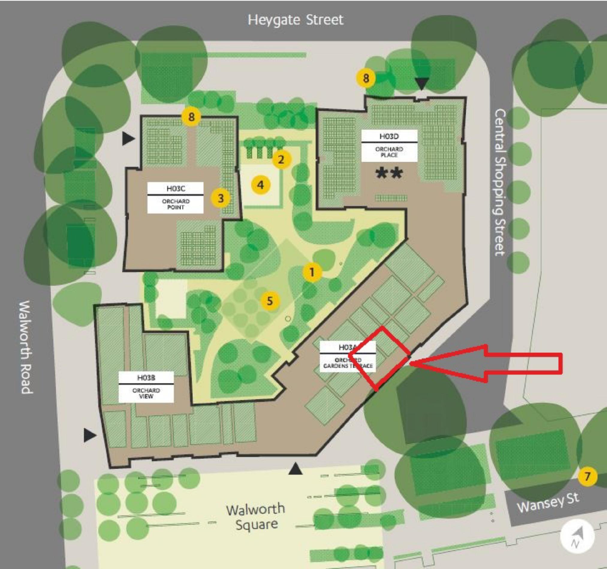 Orchard garden terrace west grove elephant park london for 15 st judes terrace dural