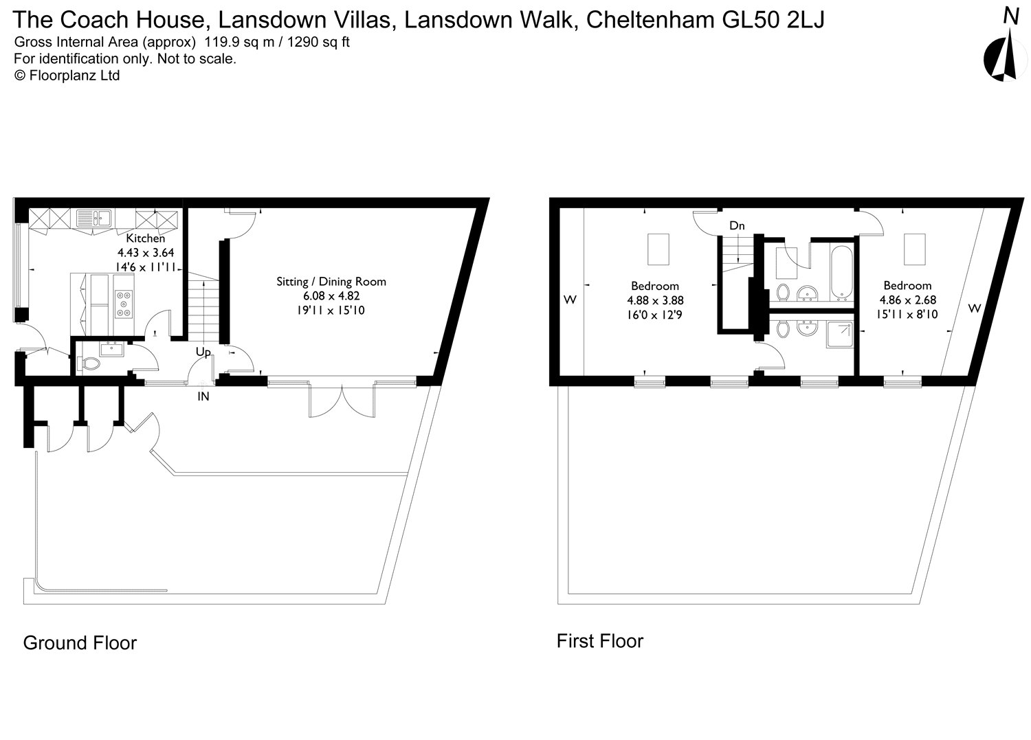 lansdown walk  cheltenham  gloucestershire gl50  2 bedroom