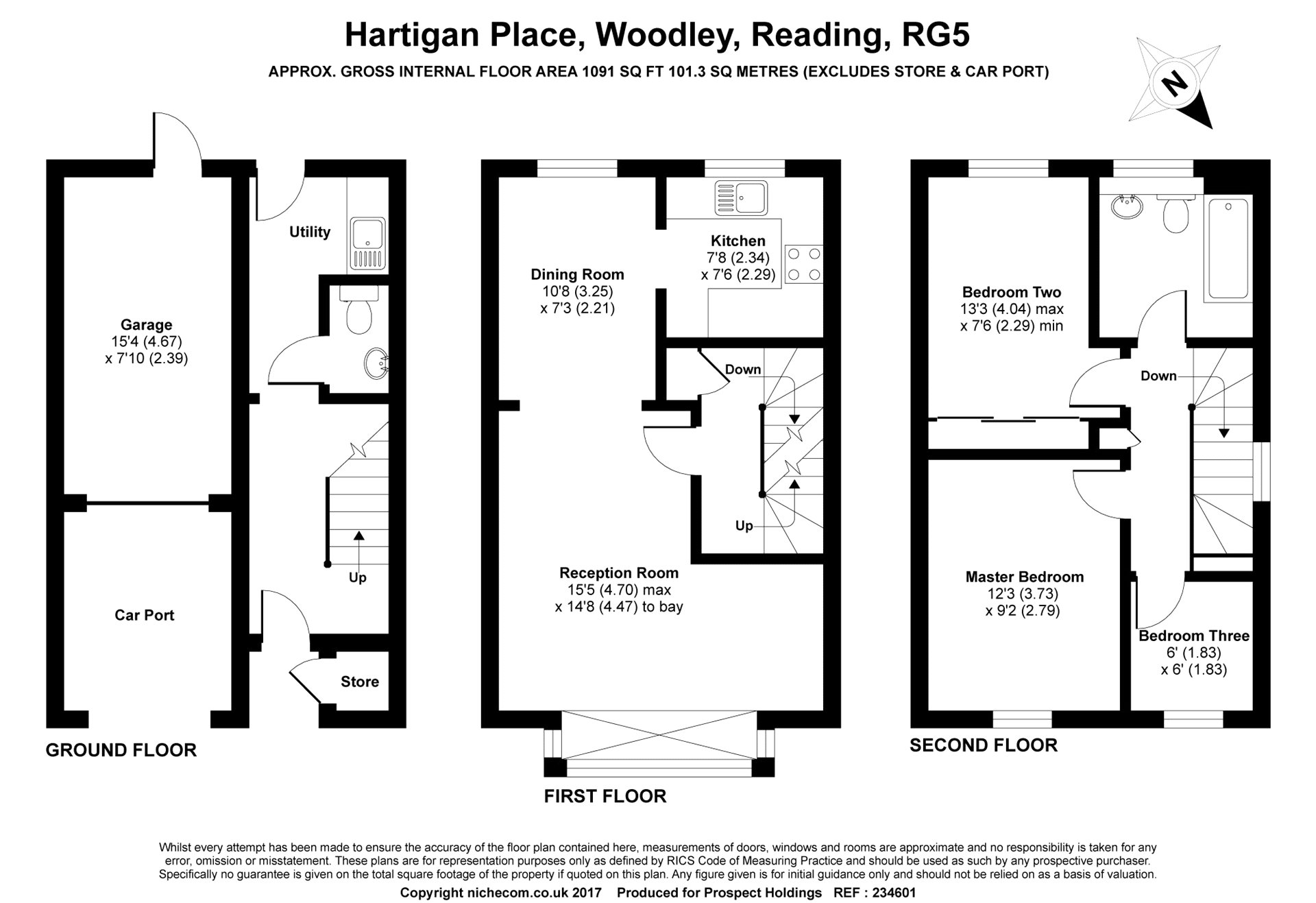 3 Bedrooms End terrace house for sale in Hartigan Place, Woodley, Reading, Berkshire RG5