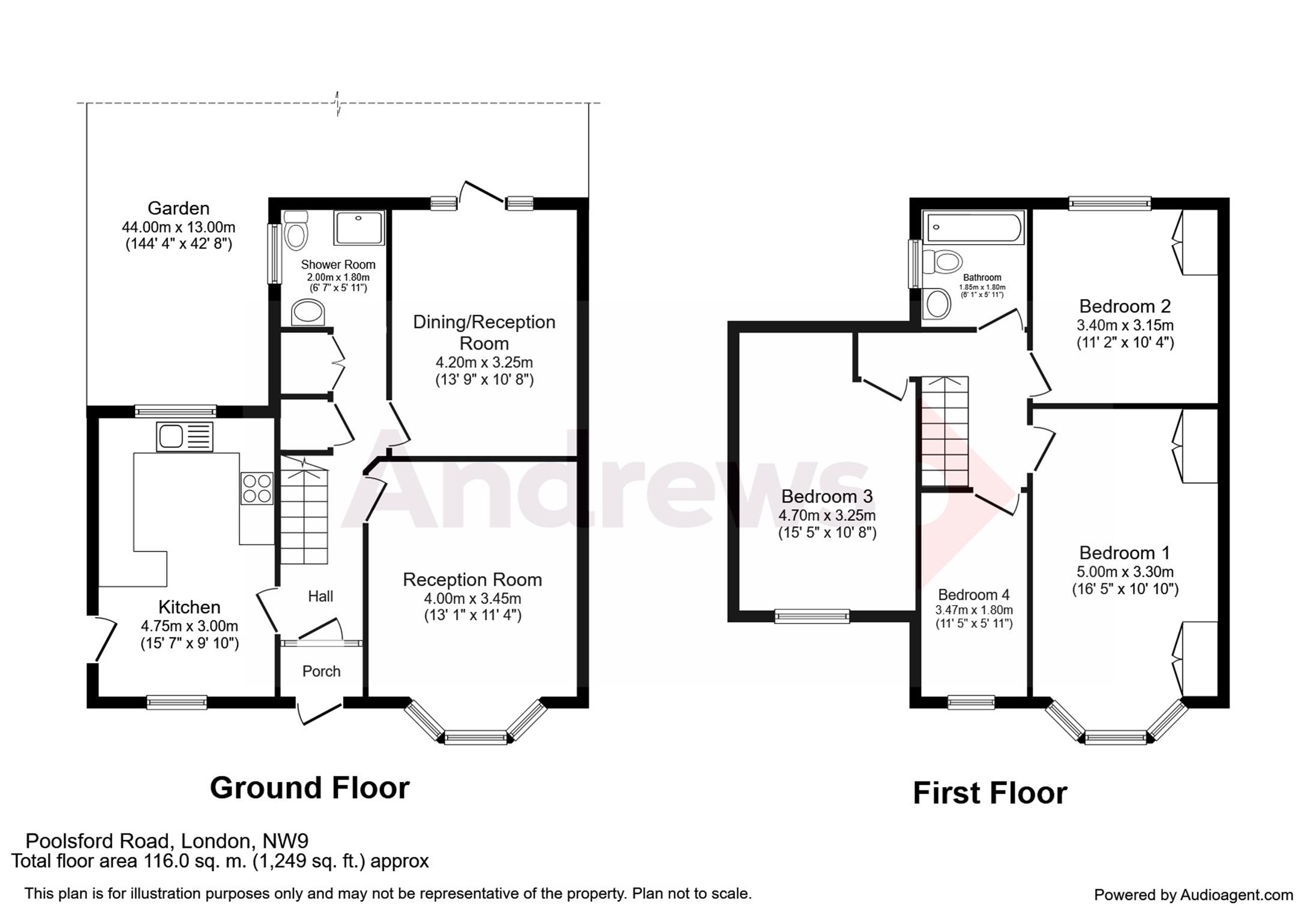 Poolsford road colindale nw9 4 bedroom semi detached for Ron lee homes floor plans