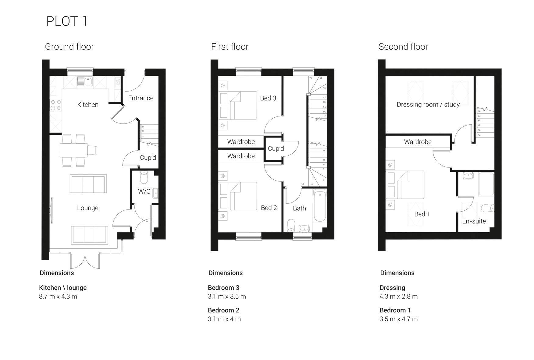 Belsize Close Godalming Gu7 3 Bedroom Semi Detached House For Sale