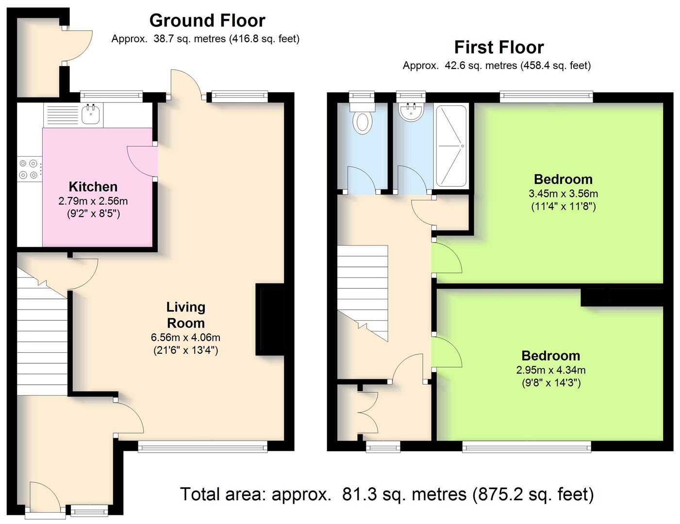 Hellidon Close, Leamington Spa CV32, 2 Bedroom Terraced