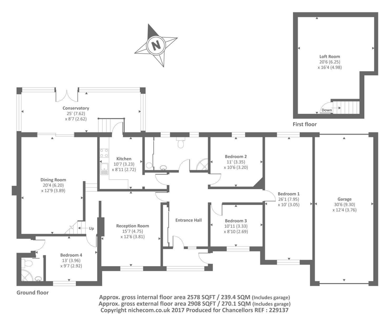 Bracknell berkshire rg12 4 bedroom detached house for for Ron lee homes floor plans