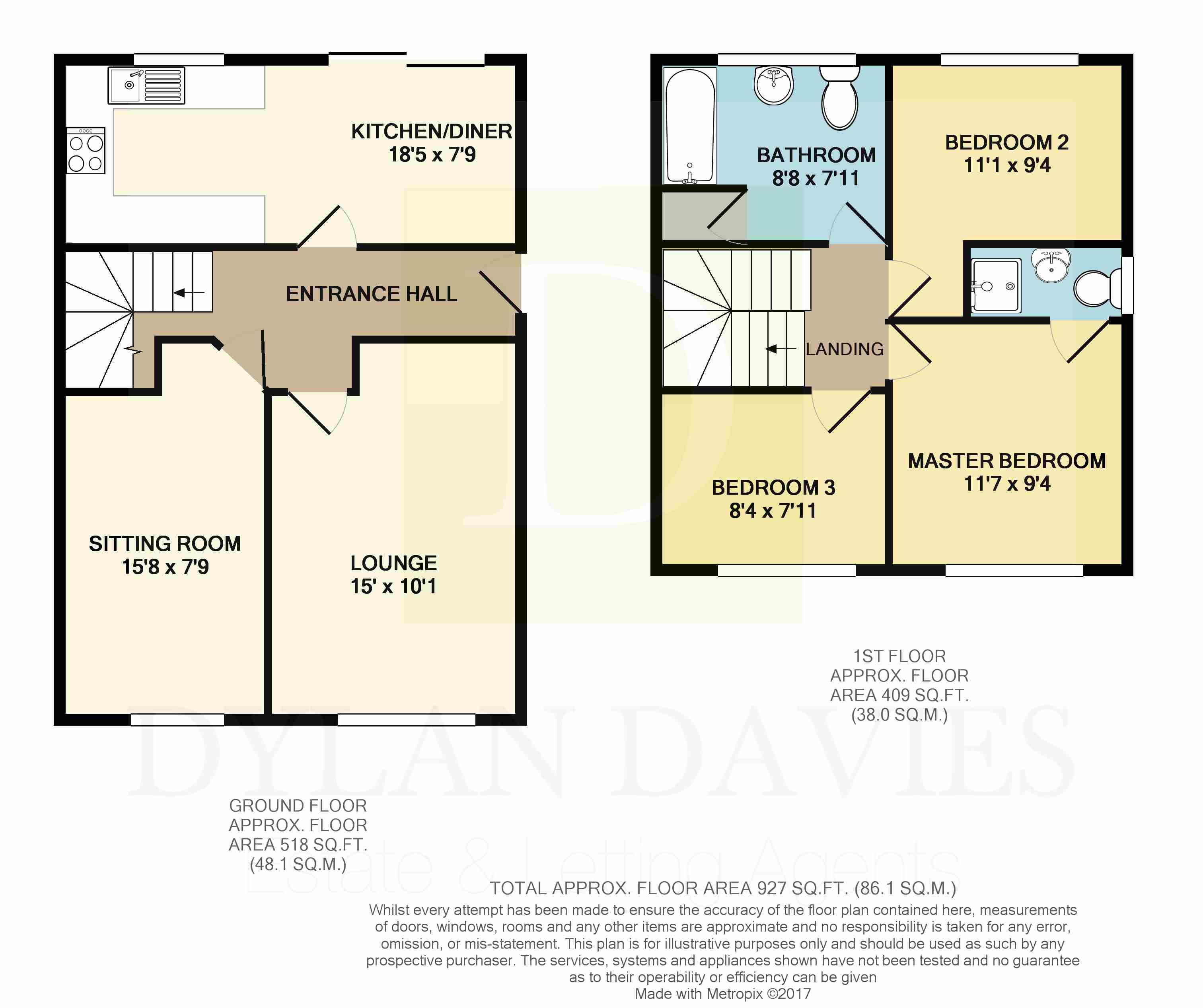 In Abercynon Rhondda Cynon Taf: Ynys Hir, Coed Y Cwm, Pontypridd CF37, 3 Bedroom Semi