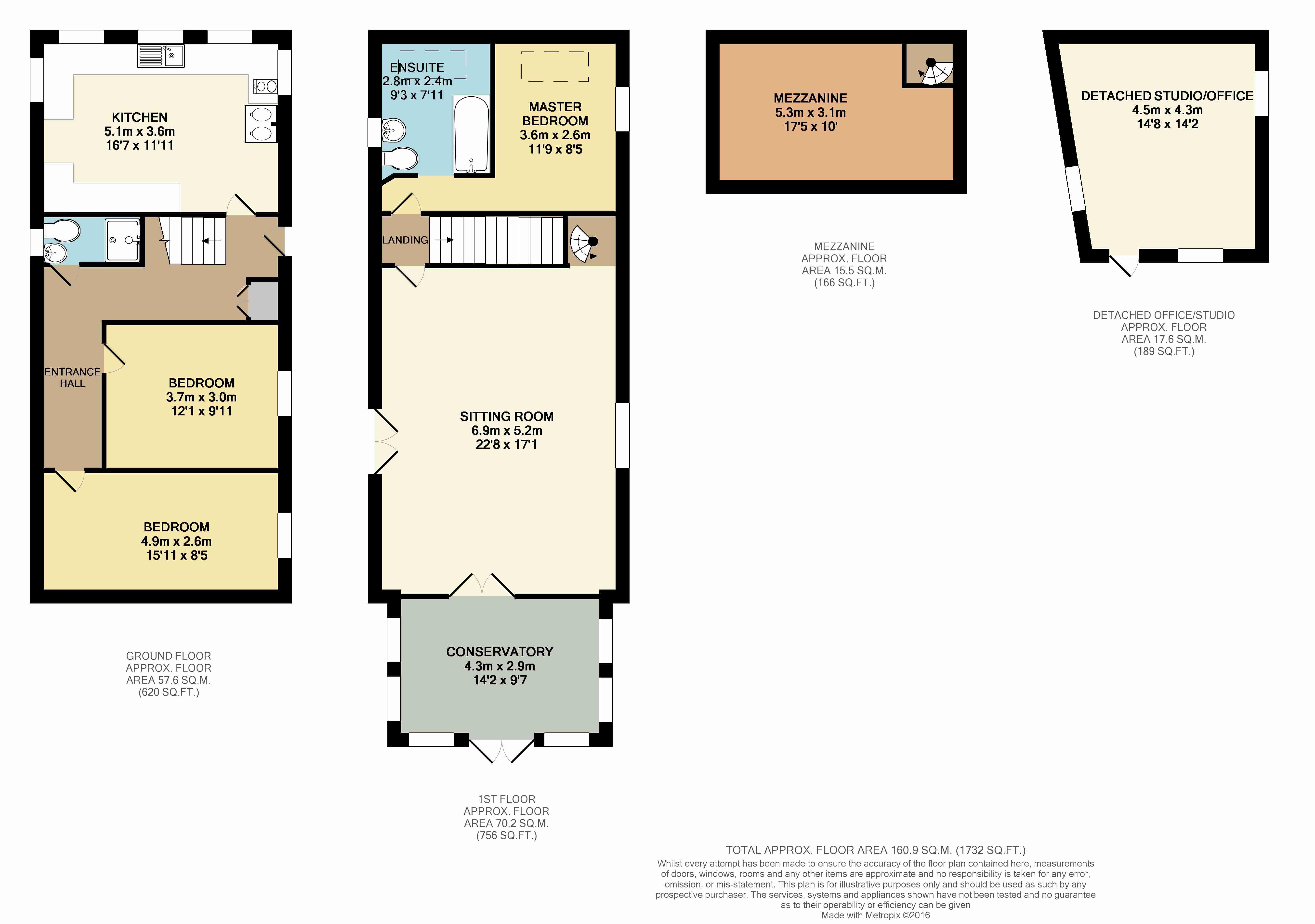 Pentyak harlyn bay floor plan crowdbuild for for Kitchen design 5m x 6m