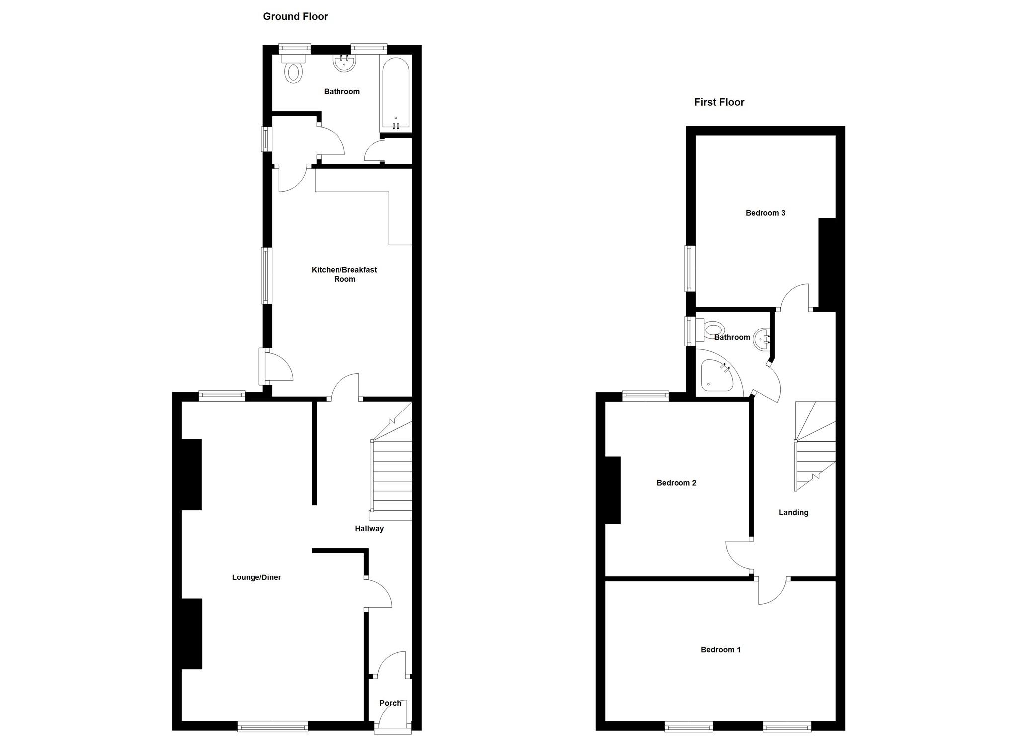 3 Bed Terraced House For Sale In Gelliceibryn Glynneath