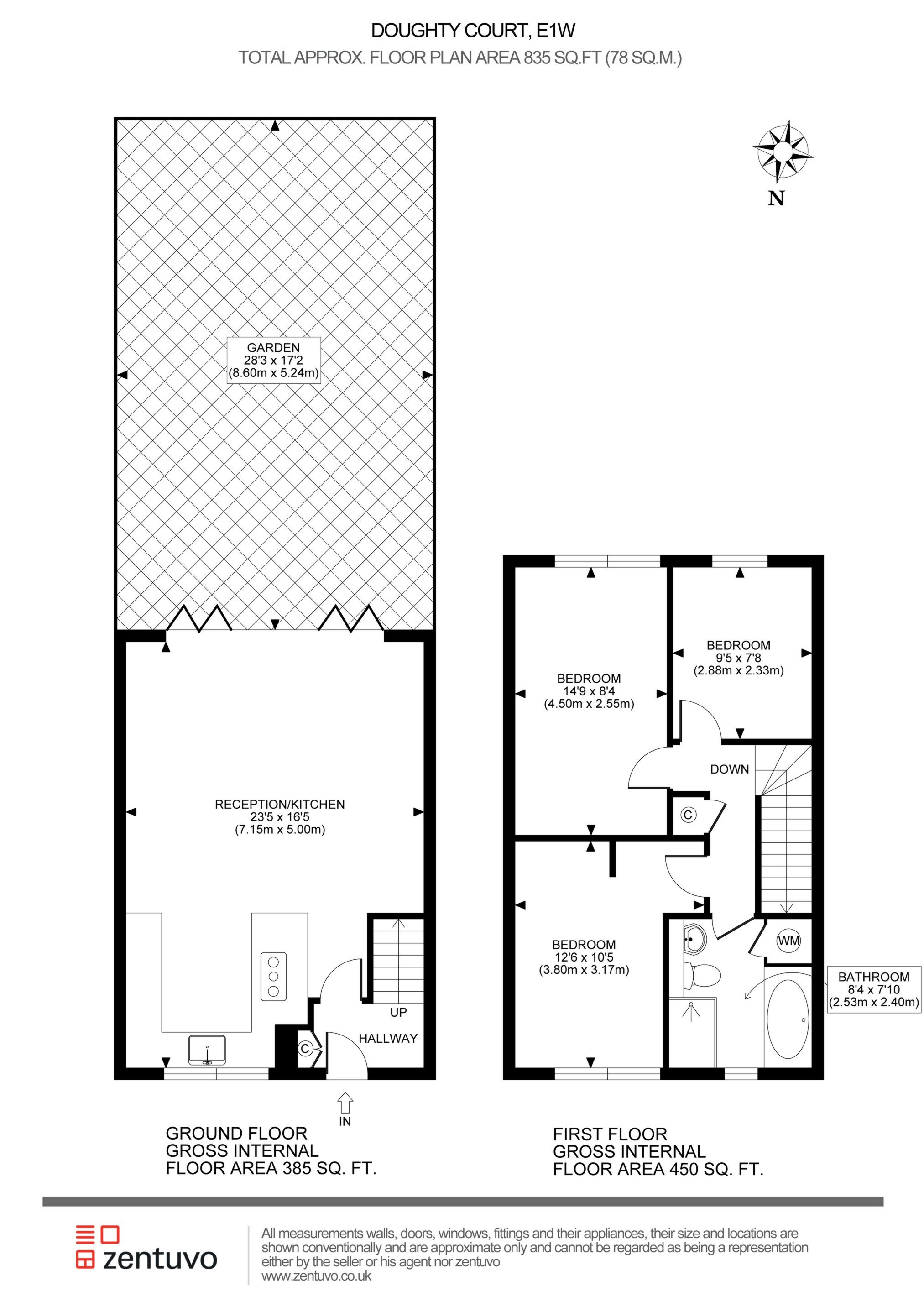3 bedroom duplex for sale 44062542 primelocation for Up down duplex floor plans