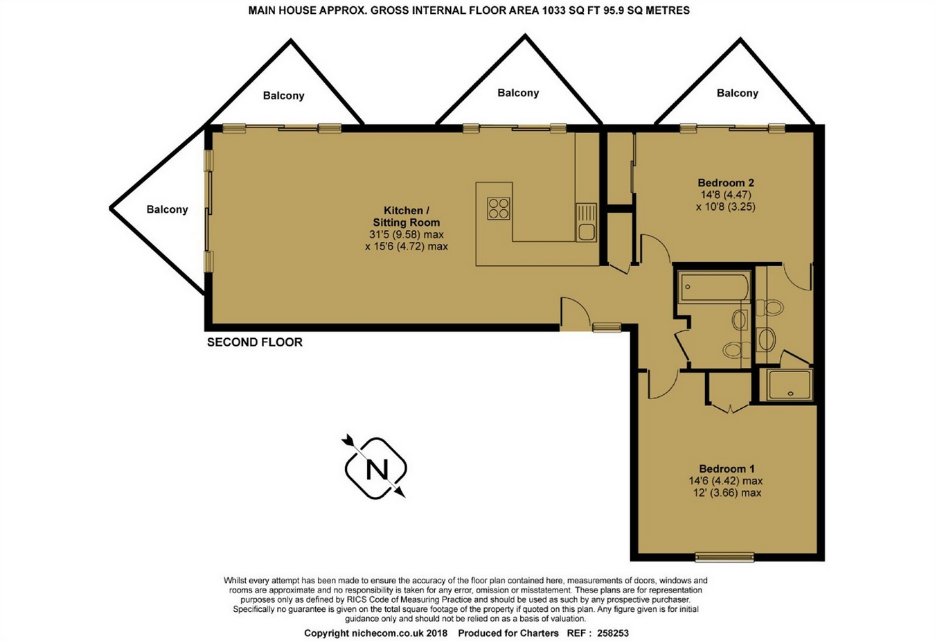 Kings Head Yard Winchester So23 2 Bedroom Flat To Rent