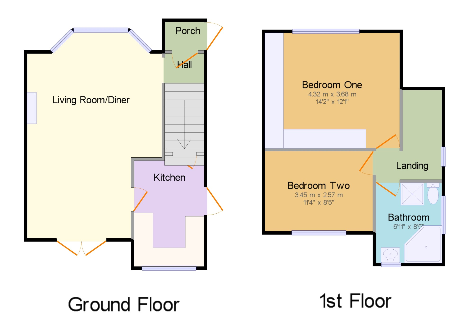 2 Bedroom Semi Detached House For Sale In Milner Road