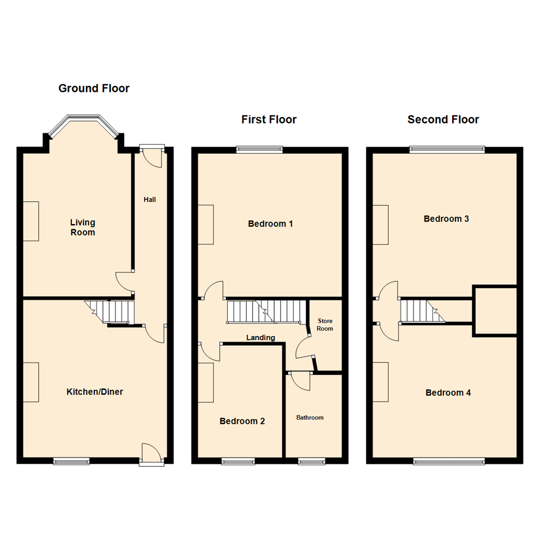 Bradford Ridge Apartments: Morritt Drive, Leeds LS15, 4 Bedroom Terraced House For