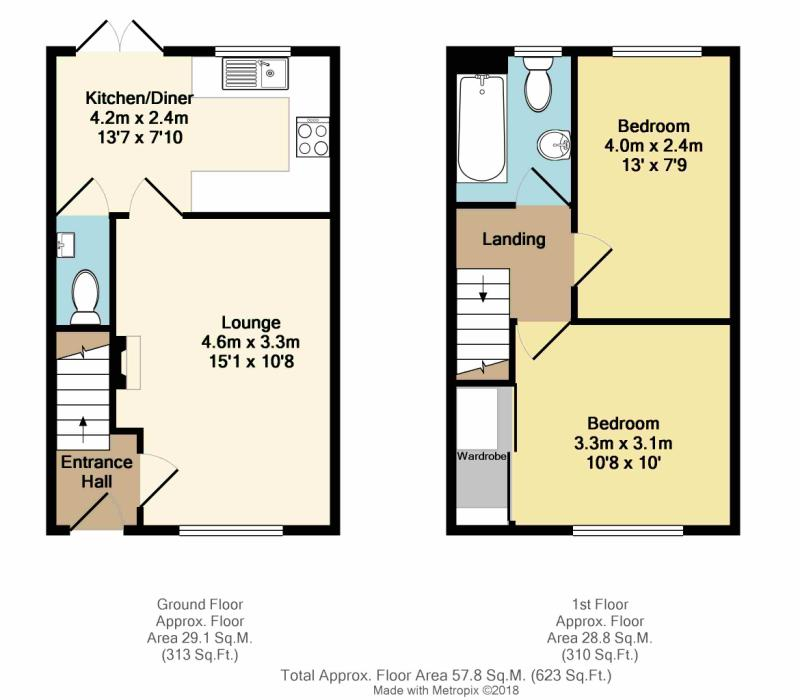 Darnbrook drive sheffield south yorkshire s5 2 bedroom for Sheffield floor plan