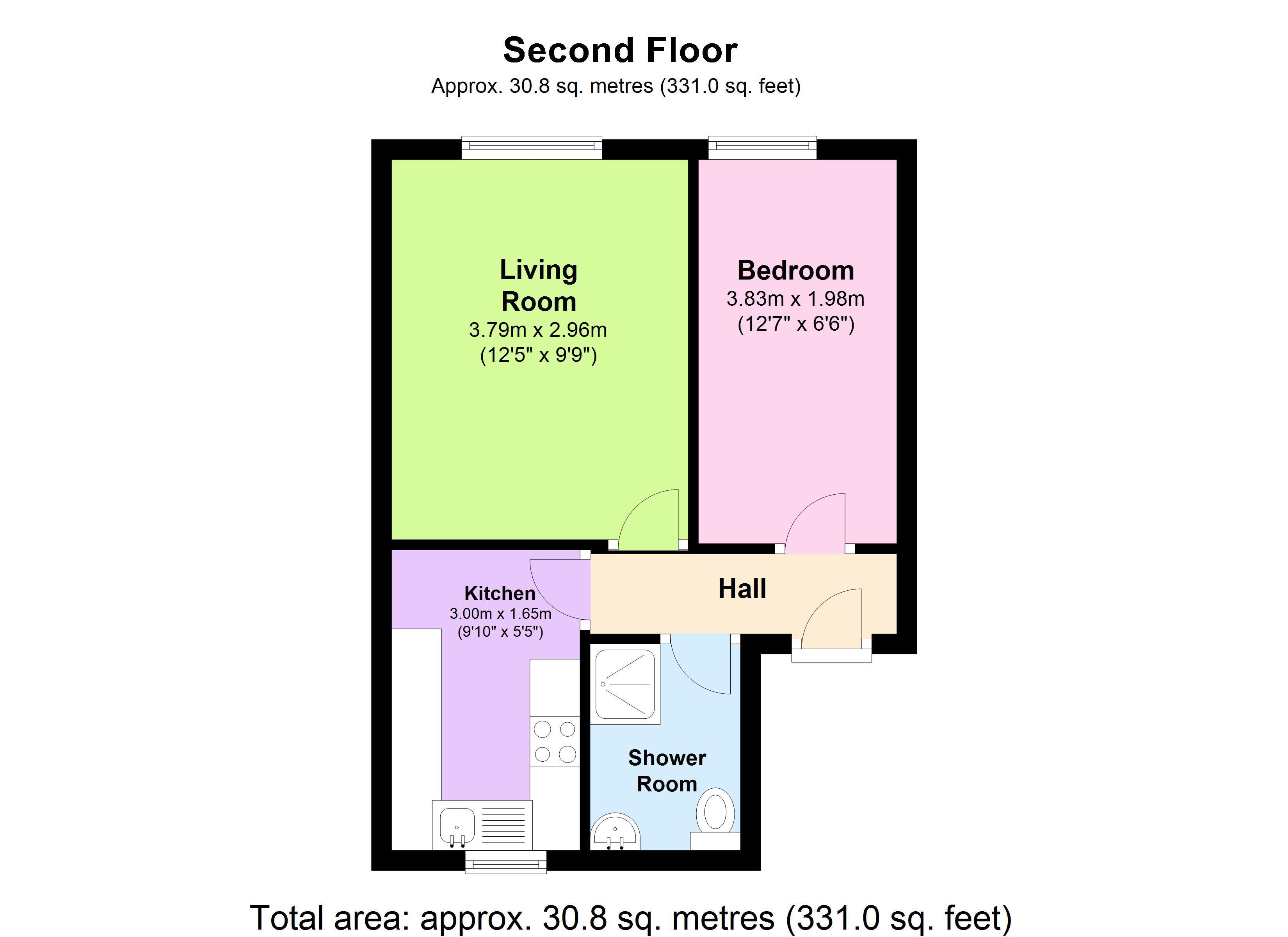 1 Bedrooms Flat for sale in Wellington Street, Gravesend, Kent DA12
