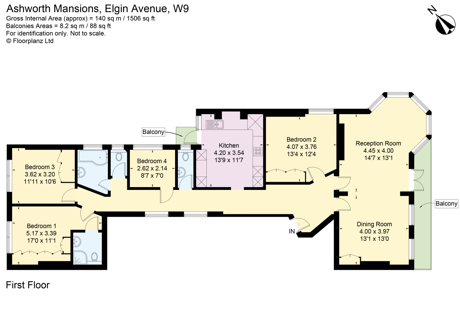 Elgin Avenue, Maida Vale W9,, 4 Bedroom Flat For Sale