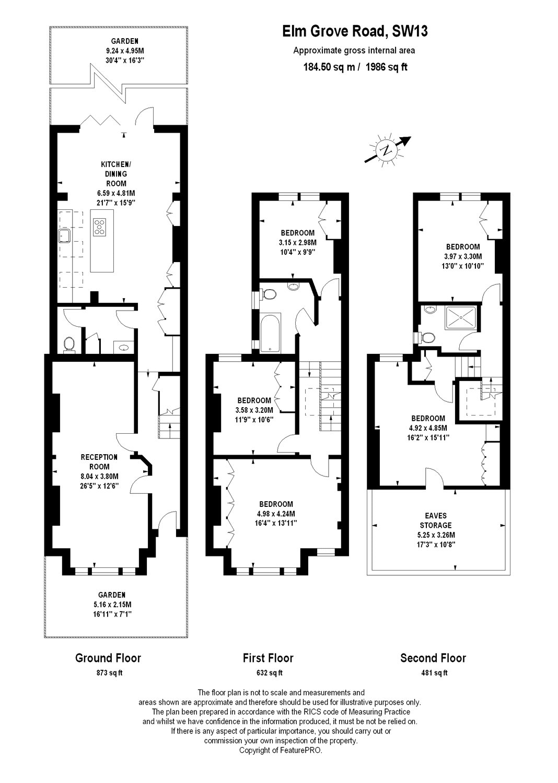 Elm Grove Road, Barnes, London SW13, 5 bedroom terraced ...