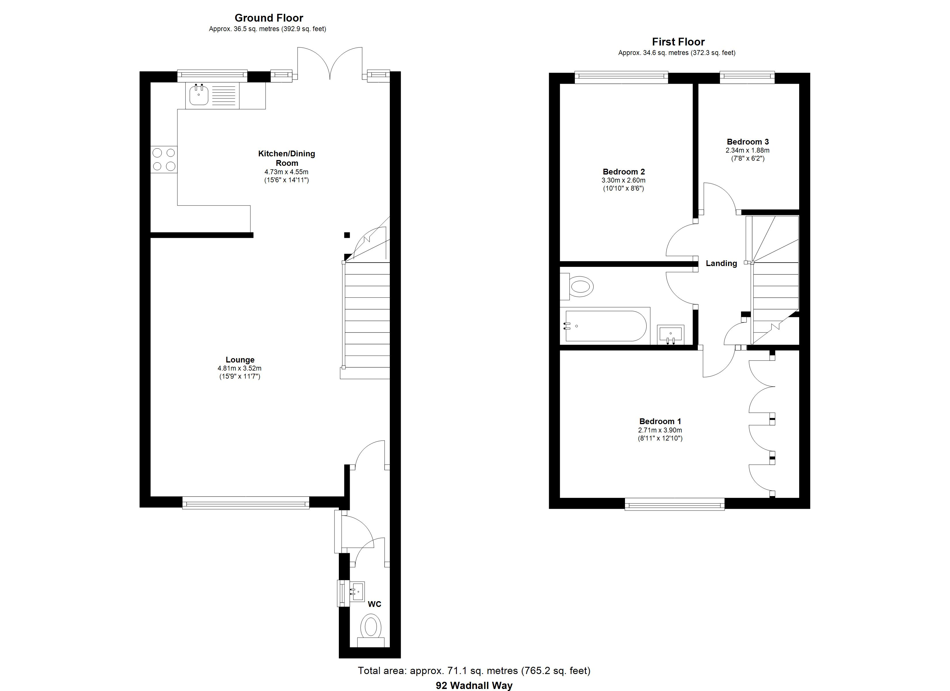 3 Bedrooms Terraced house for sale in Wadnall Way, Knebworth SG3