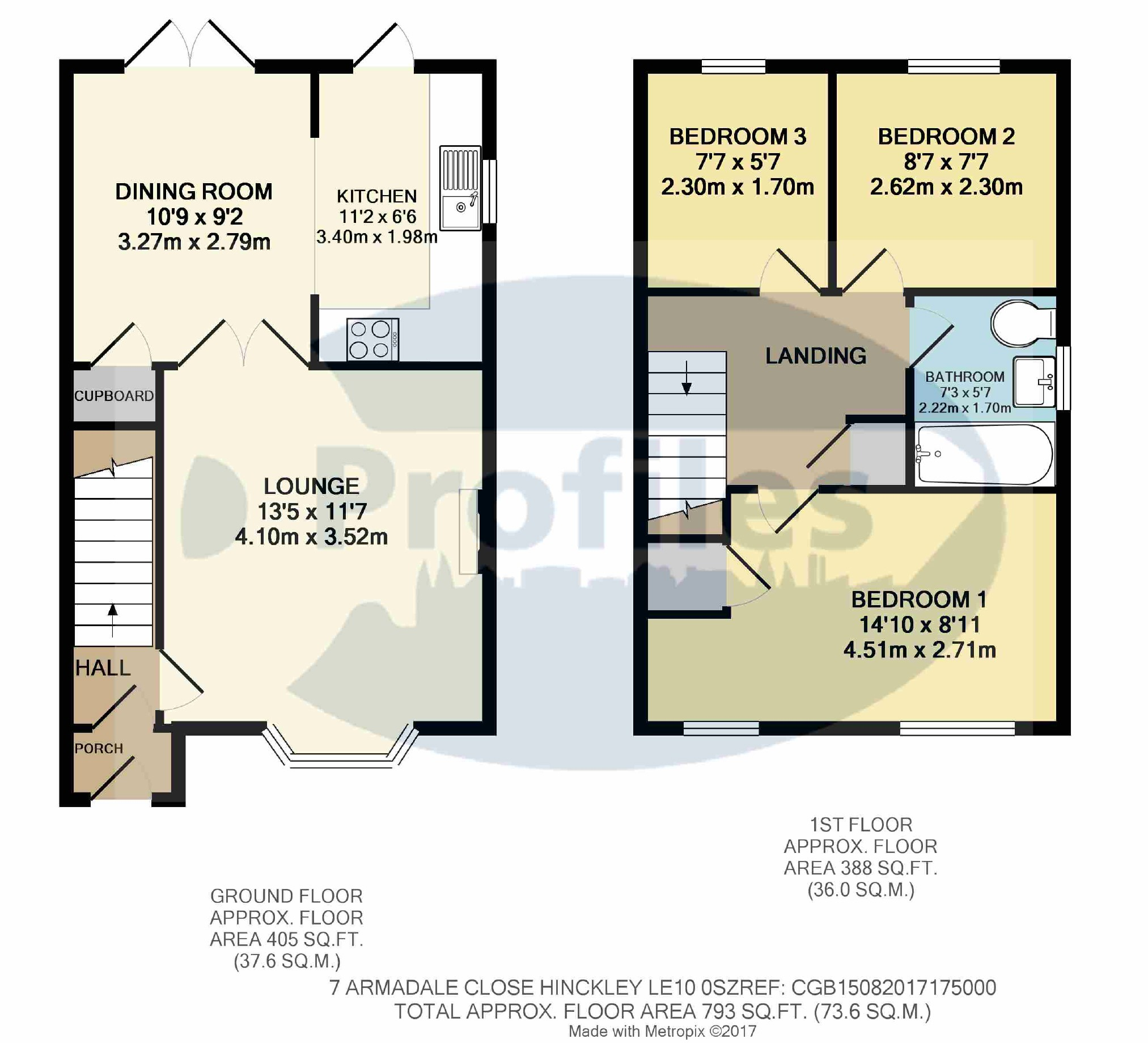 3 bed semi detached house for sale in armadale close hinckley