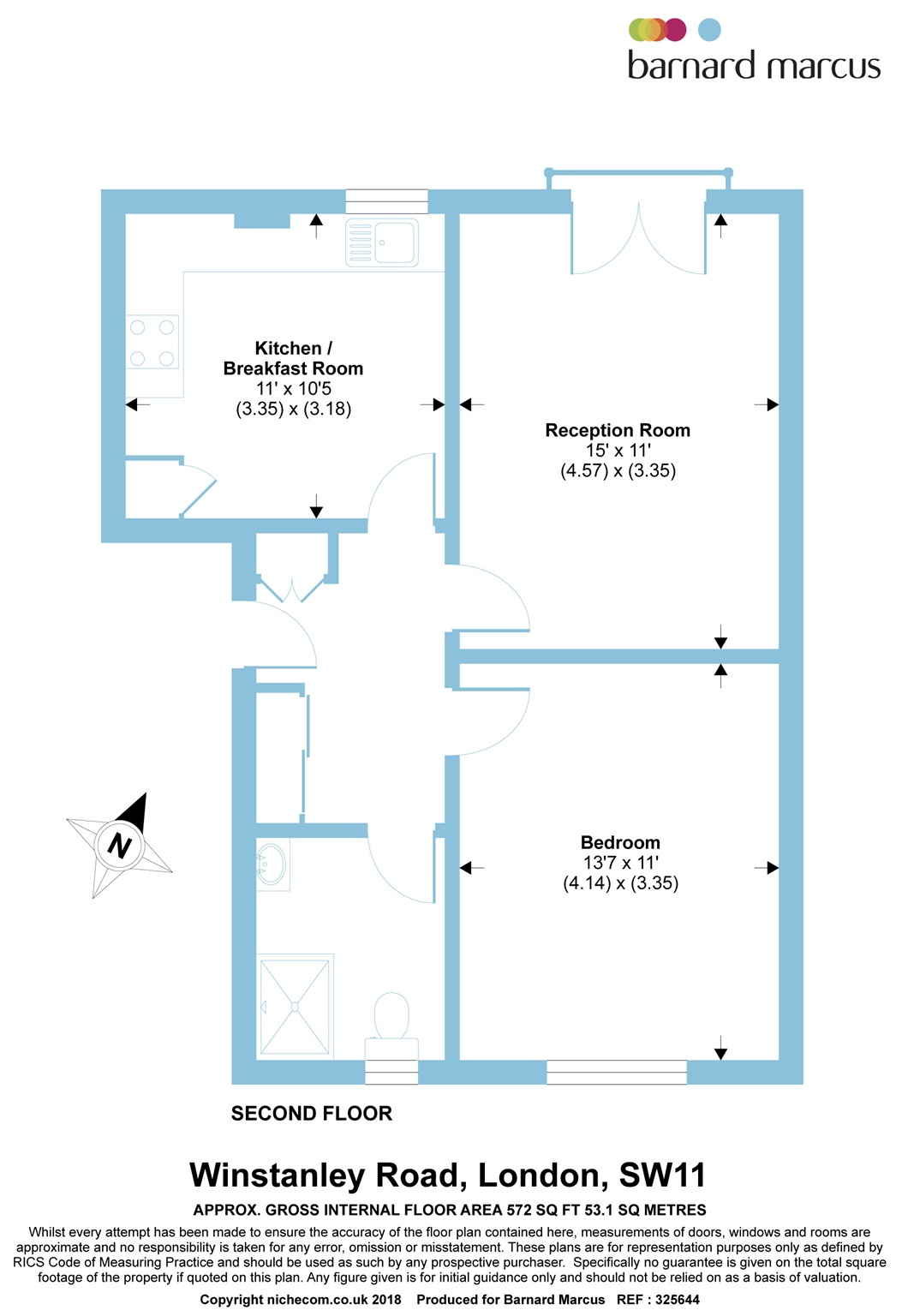 1 Bedrooms Flat for sale in Winstanley Road, London SW11