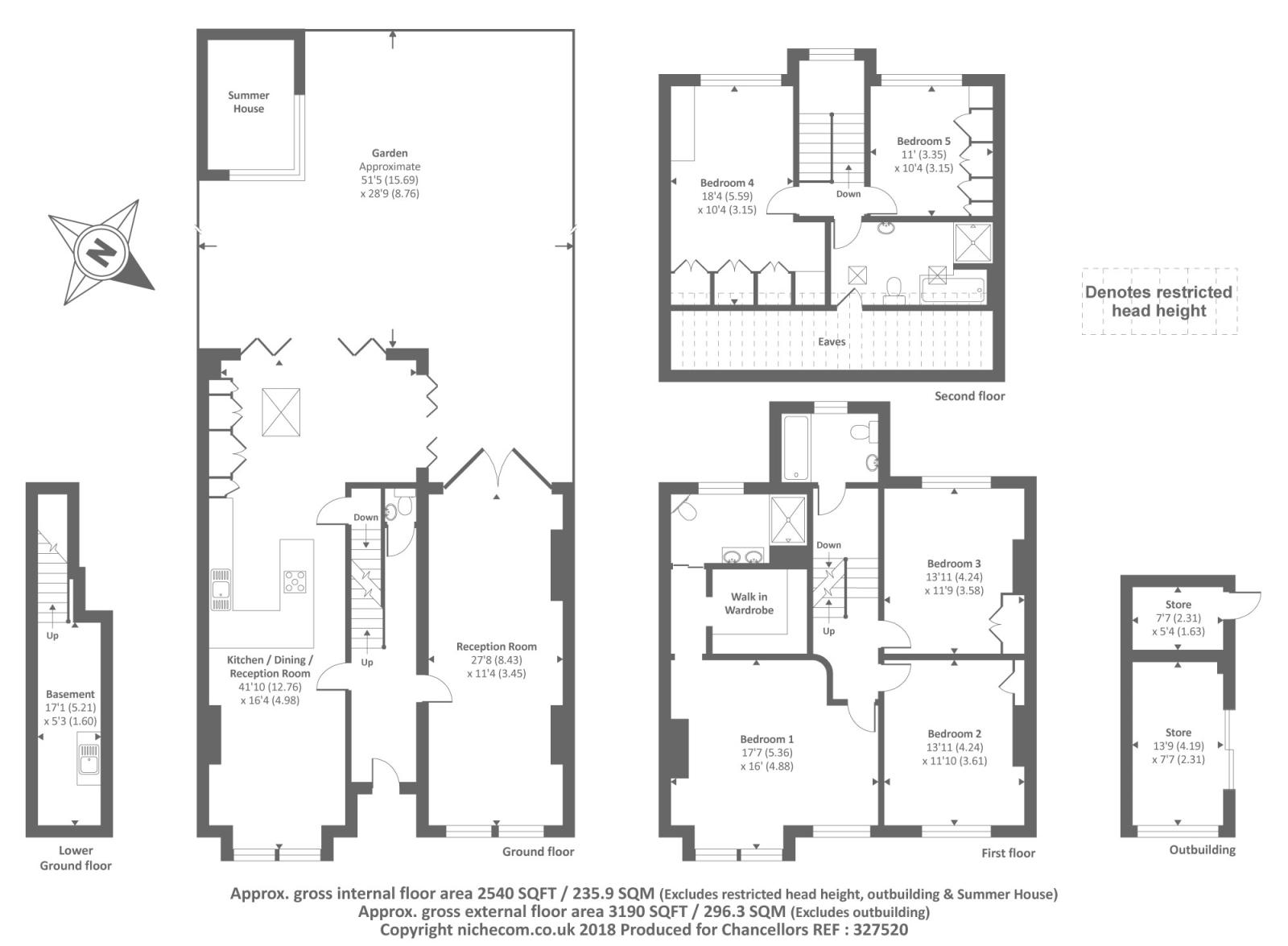 Womersley Road Crouch End London N8 5 Bedroom Semi Detached House