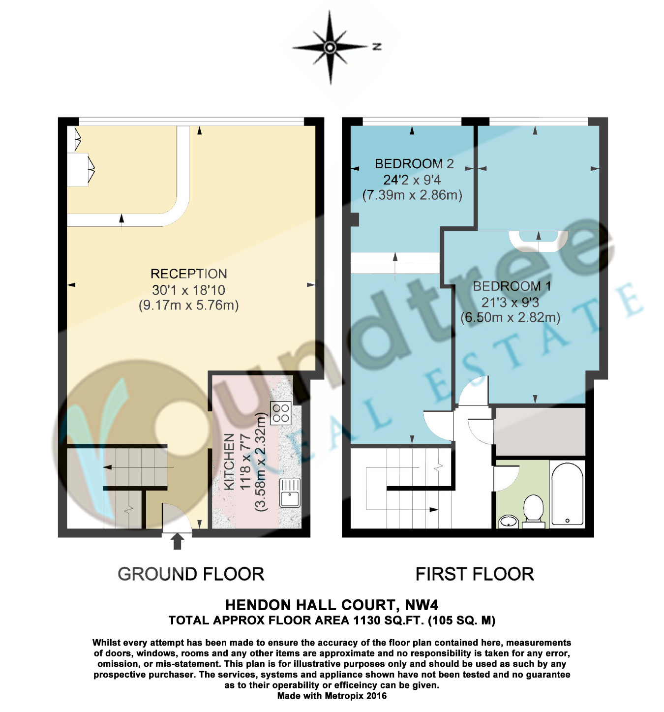 Parson street hendon nw4 2 bedroom duplex for sale for Up down duplex floor plans