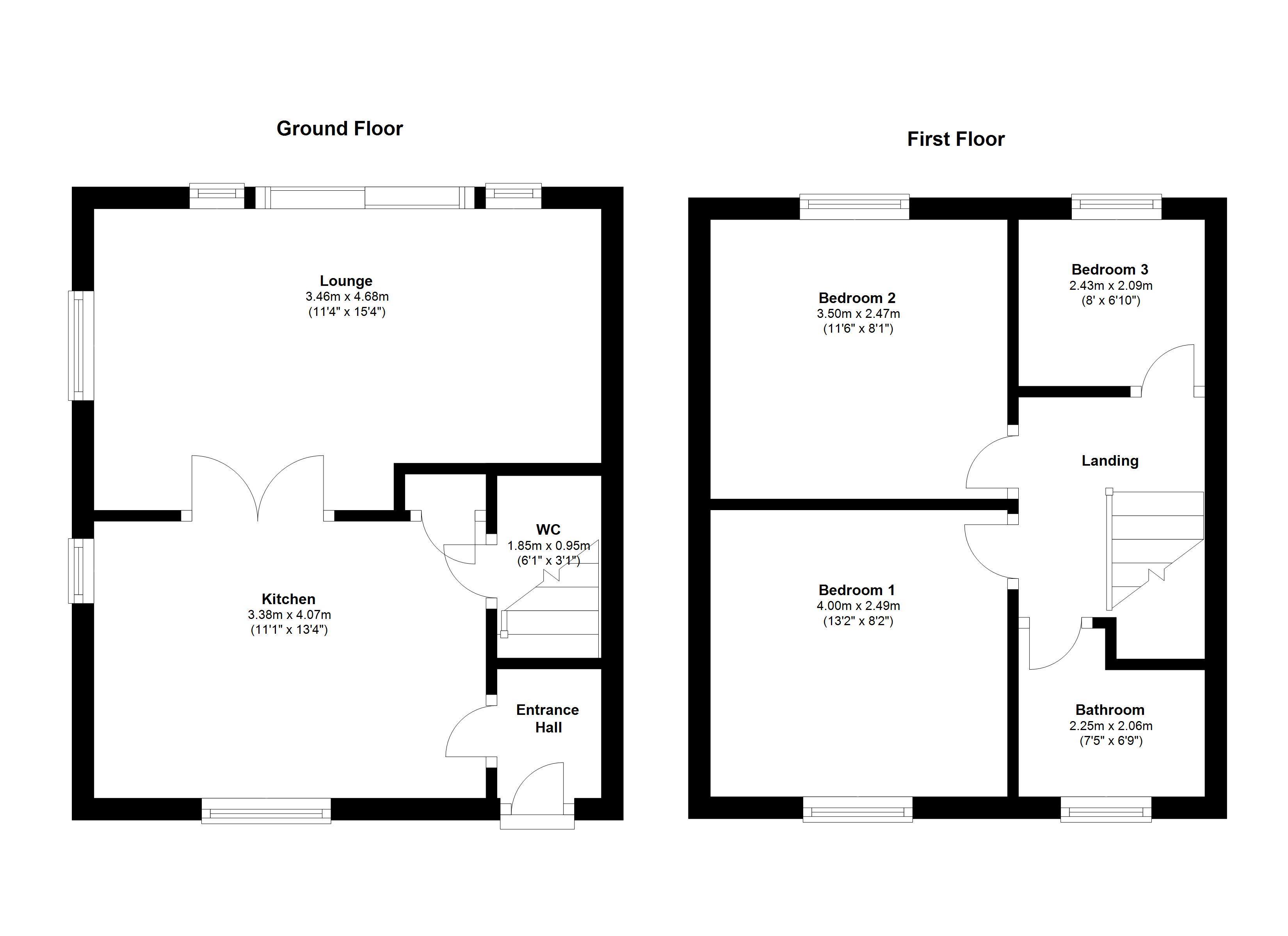 Willfield lane brown edge stoke on trent st6 3 bedroom for 16 brookers lane floor plans