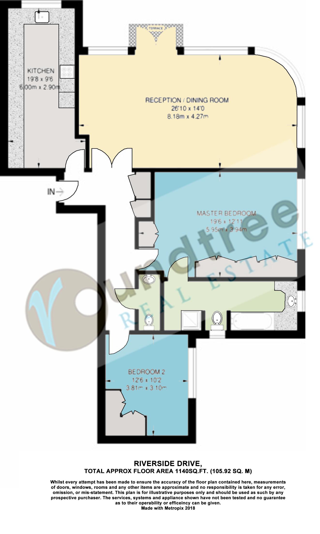 Riverside Drive, Golders Green Road, Golders Green NW11, 2 bedroom ...