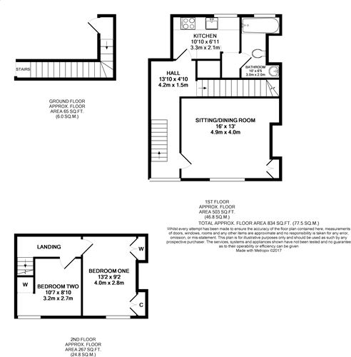 2 bedroom duplex for sale 43076191 primelocation for Up down duplex floor plans