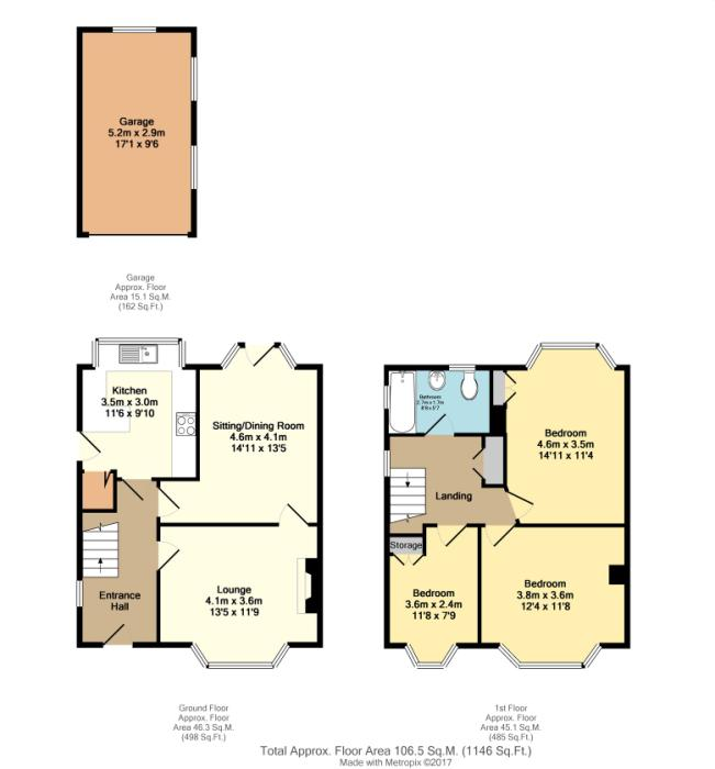 Longford crescent sheffield south yorkshire s17 3 for Sheffield floor plan